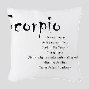 Scorpio Traits Woven Throw Pillow