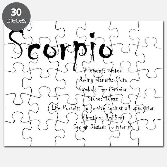 Scorpio Traits Puzzle