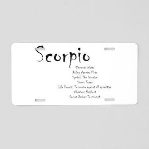 Scorpio Traits Aluminum License Plate