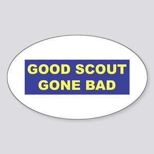 Good Scout Gone Bad (Blue) Oval Sticker
