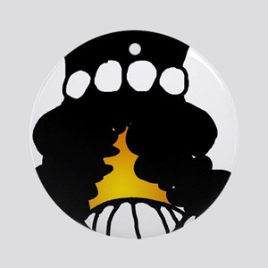 Slash Smiley Ornament (Round)
