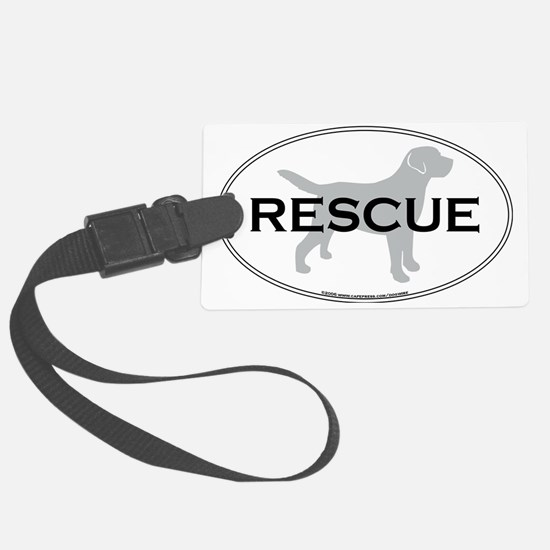 RescueOval Large Luggage Tag