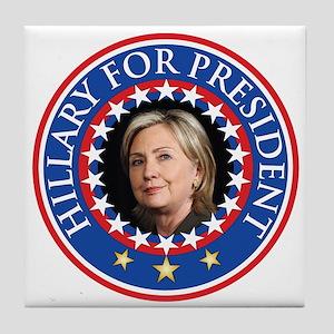 Hillary for President - Presidential Seal Tile Coa