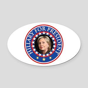 Hillary for President - Presidential Seal Oval Car