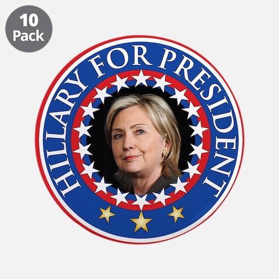 "Hillary for President - Presidential Seal 3.5"" But"