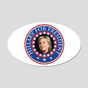 Hillary for President - Presidential Seal Wall Dec