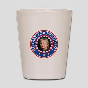 Hillary for President - Presidential Seal Shot Gla