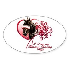 Love Harness Wife Oval Sticker
