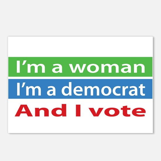 Im A Woman, a Democrat, and I Vote! Postcards (Pac