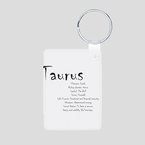 Taurus Traits Aluminum Photo Keychain