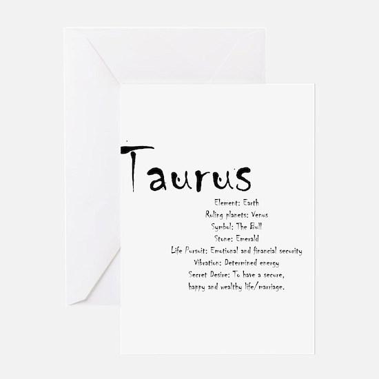 Taurus Traits Greeting Card