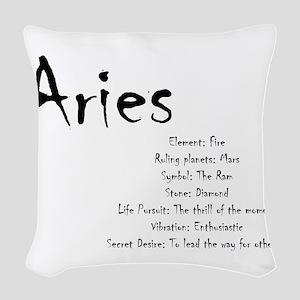 Aries Traits Woven Throw Pillow