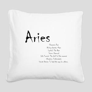 Aries Traits Square Canvas Pillow