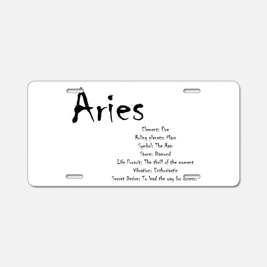 Aries Traits Aluminum License Plate