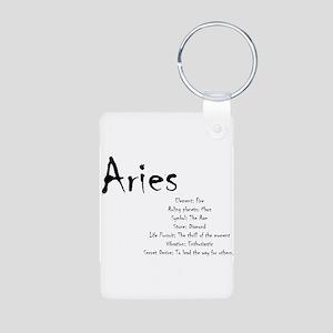 Aries Traits Aluminum Photo Keychain