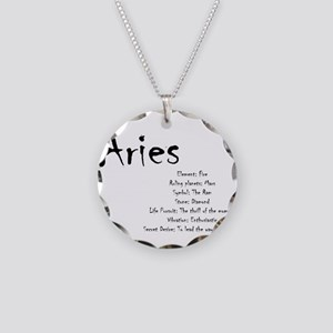 Aries Traits Necklace Circle Charm