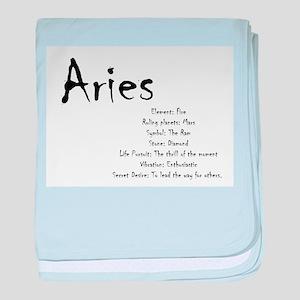 Aries Traits baby blanket