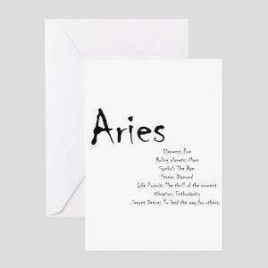 Aries Traits Greeting Card