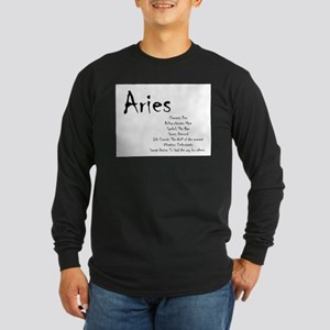 Aries Traits Long Sleeve Dark T-Shirt