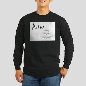 Aries Traits Long Sleeve Dark T-Shirt