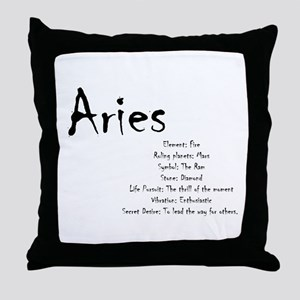 Aries Traits Throw Pillow