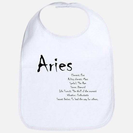 Aries Traits Cotton Baby Bib