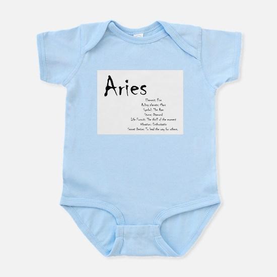 Aries Traits Baby Light Bodysuit