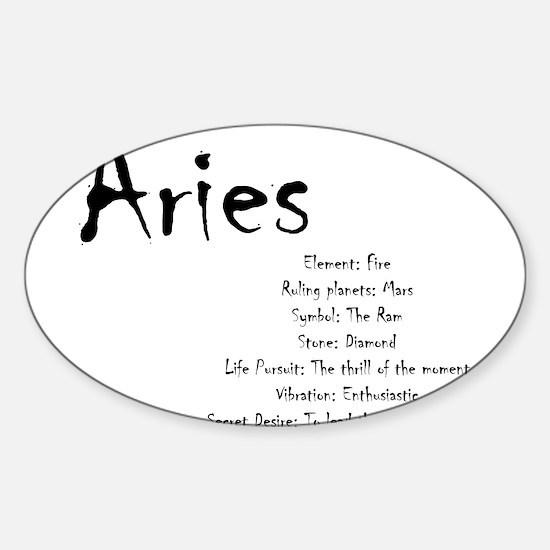 Aries Traits Sticker (Oval)
