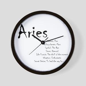 Aries Traits Wall Clock