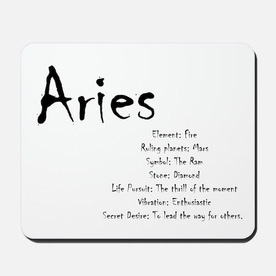 Aries Traits Mousepad