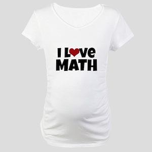 I Love Math Maternity T-Shirt