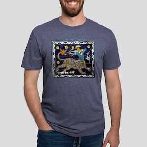 Sagittarius 16th Century Mosaic Mens Tri-blend T-S