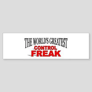 """The World's Greatest Control Freak"" Sticker (Bump"