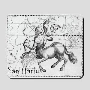 Sagittarius 17th Centure drawing Mousepad
