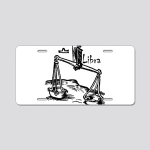 Libra 16th Century Drawing Aluminum License Plate