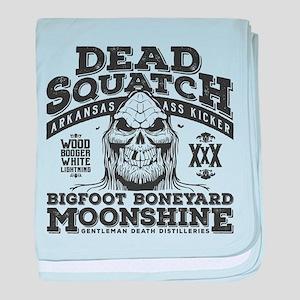 Dead Squatch Moonshine baby blanket