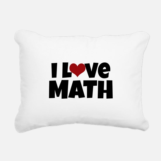 I Love Math Rectangular Canvas Pillow
