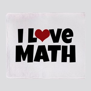 I Love Math Throw Blanket