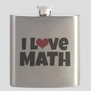 I Love Math Flask