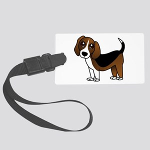 Beagle Cartoon Dog Large Luggage Tag