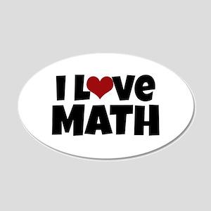 I Love Math Wall Decal