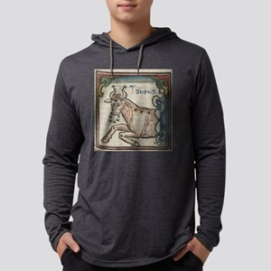 Taurus 16th Century Woodcut Mens Hooded Shirt
