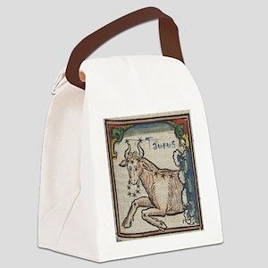 Taurus 16th Century Woodcut Canvas Lunch Bag