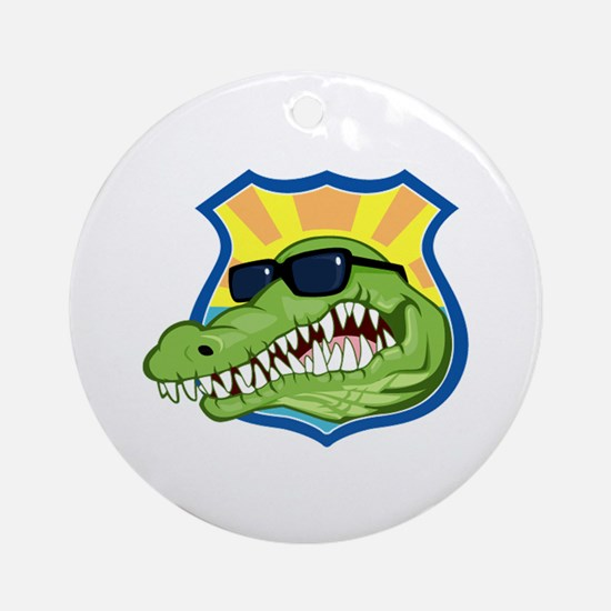 Florida Police Officer Ornament (Round)