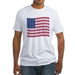 PEACE FLAG Fitted T-Shirt