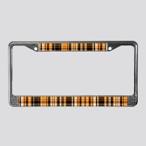 Halloween Plaid License Plate Frame