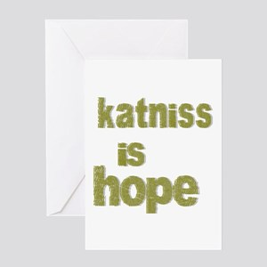 Katniss is Hope Greeting Card