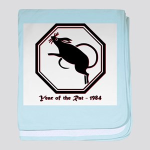 Year of the Rat - 1984 baby blanket