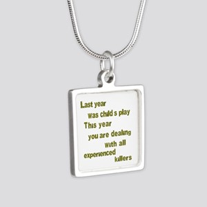 Experienced Killers Silver Square Necklace