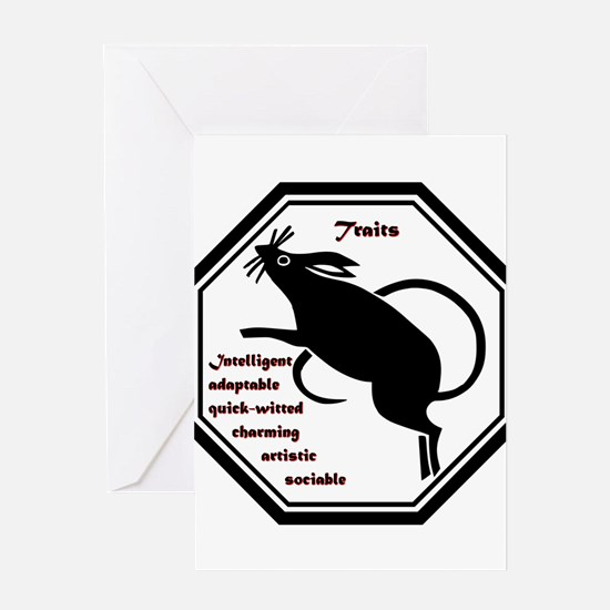 Year of the Rat - Traits Greeting Card